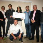 Remise chèque USNSP athlétisme association A.M.M.I