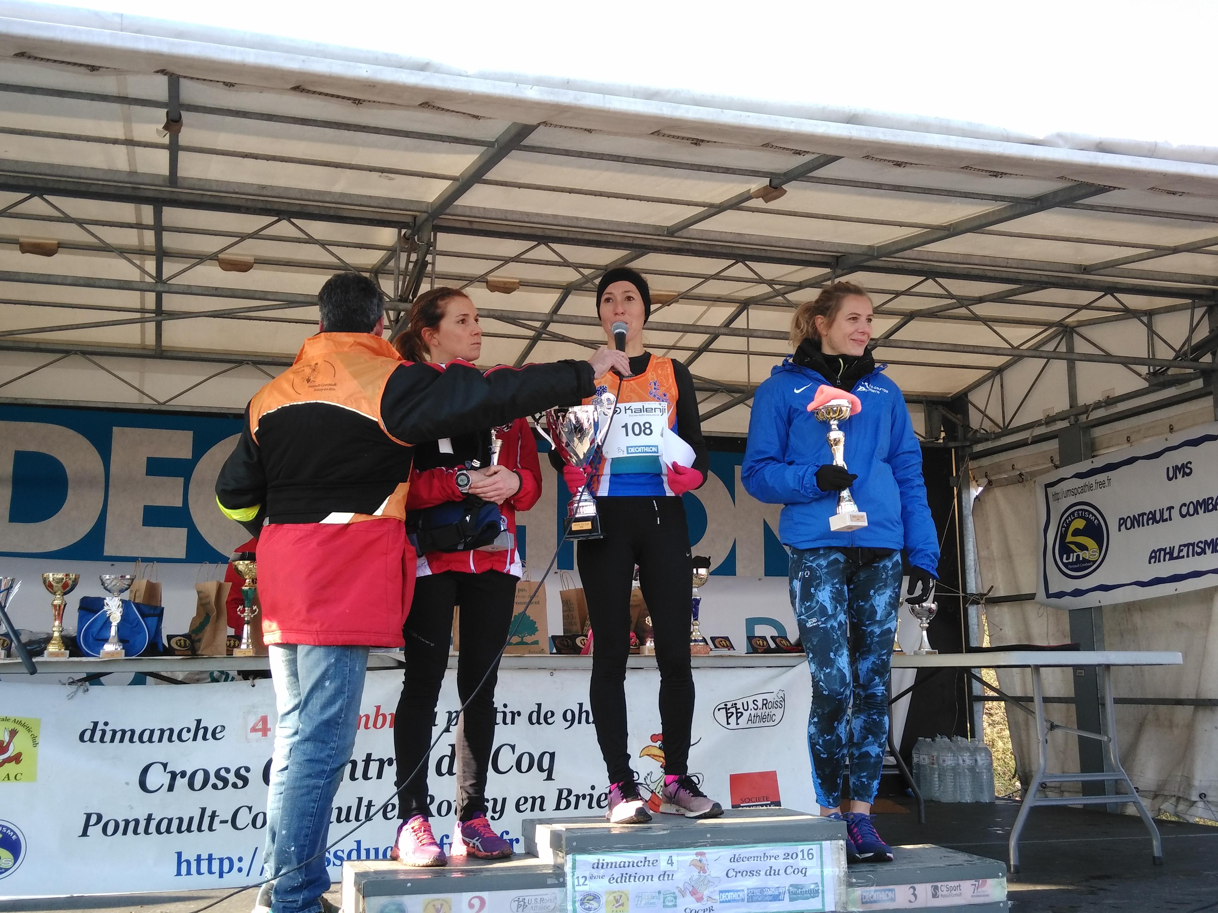 Brigitte DA SILVA remporte le cross du PAAC