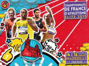 Championnats de France Elites à Marseille, Mathilde et Florian sur le pont.