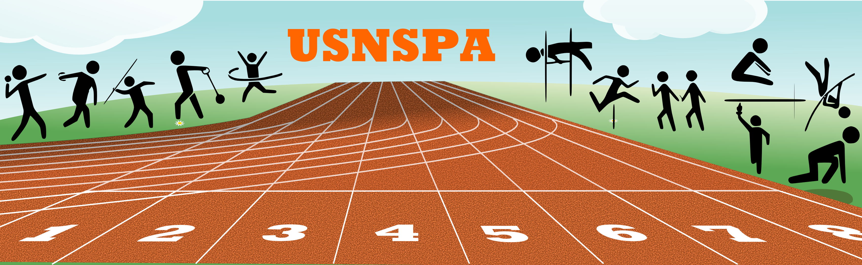 USNSPA athlétisme logo
