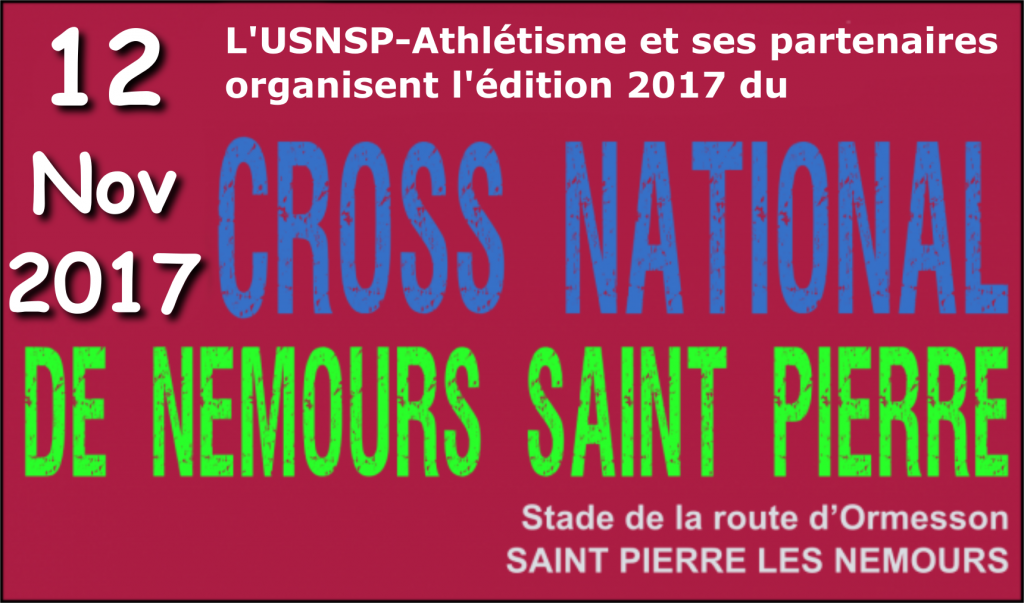 Inscription au cross de Nemours édition 2017
